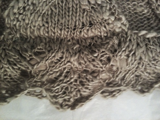 lace knit detail