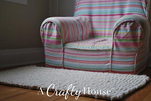 seed stitch rug